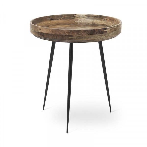 Bowl Table - Natural Lacquered Mango Wood M