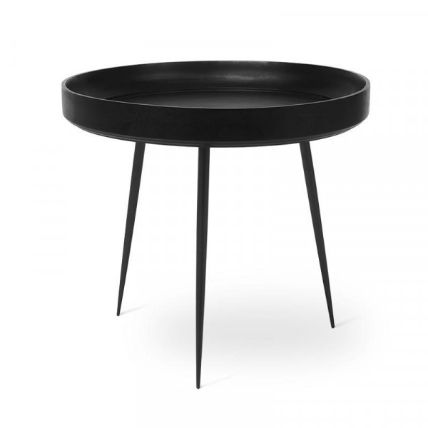 Bowl Table - Black Stained Mango Wood L