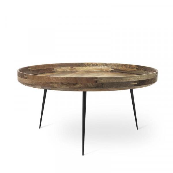 Bowl Table - Natural Lacquered Mango Wood XL
