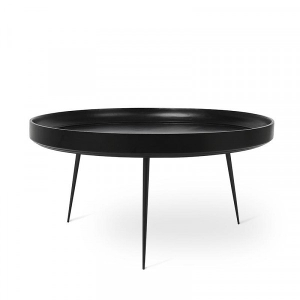 Bowl Table - Black Stained Mango Wood XL