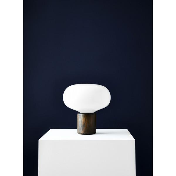 Karl-Johan, Smoked oak w. White Opal Glass