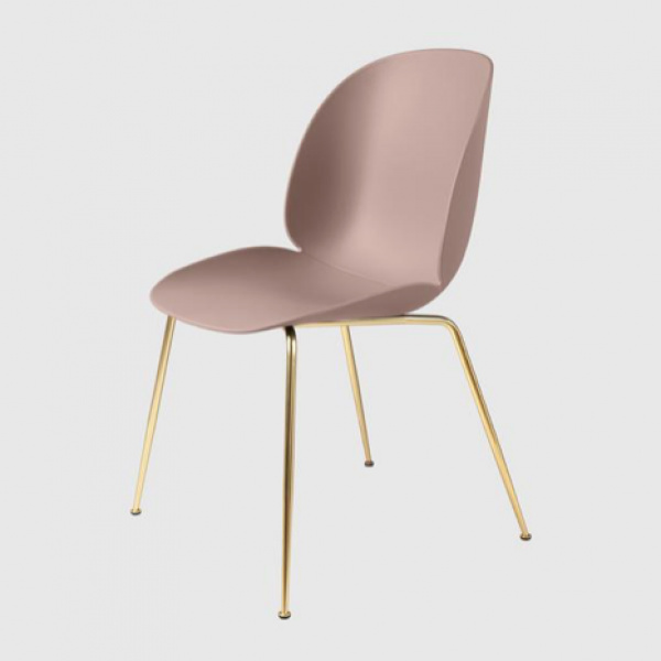 Beetle Dining Chair - Messing semi matt