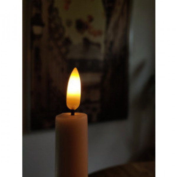 Taper Candle 2 pk - White 28cm