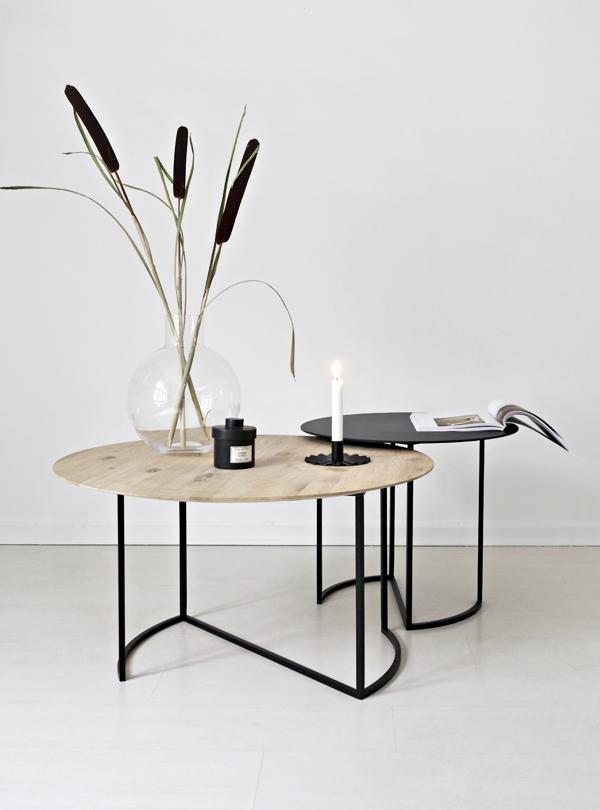 Ljå Coffe Table - White Oiled Ø55