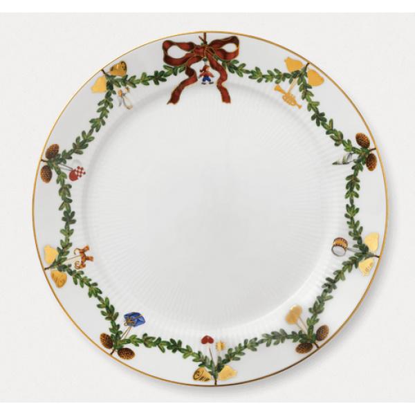 Stjerne Riflet Jul Tallerken 27 cm
