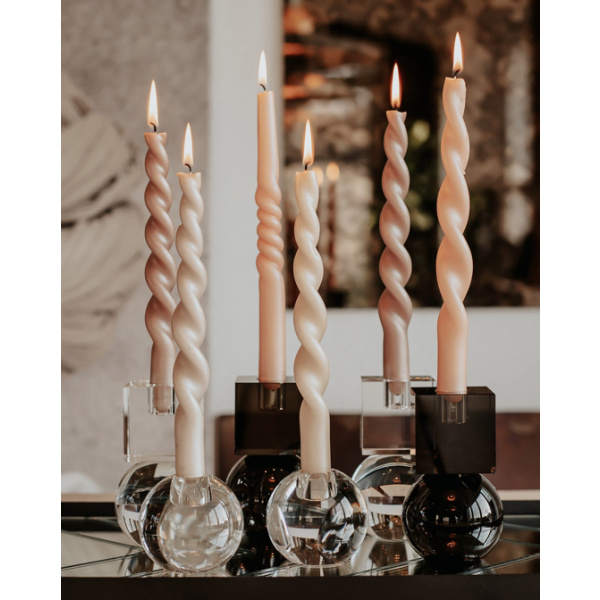 Pearl Curled Candles